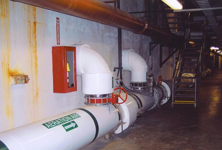 Insulated 20'' Diam. Aeration Pipe and Valves