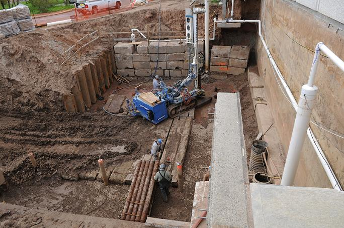 Installation of Augered Mini-piles for UST Vault
